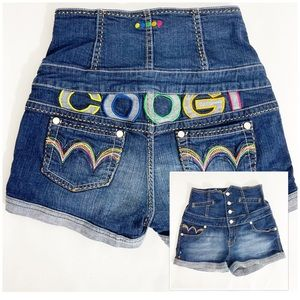 Coogi high waisted colorful jean shorts size 7/8
